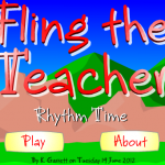 Fling The Teacher Note Values Game